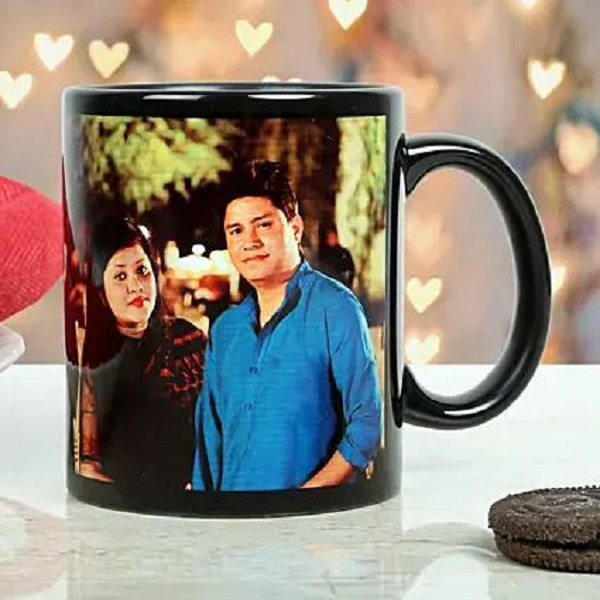 Personalized Black Mug for Couple