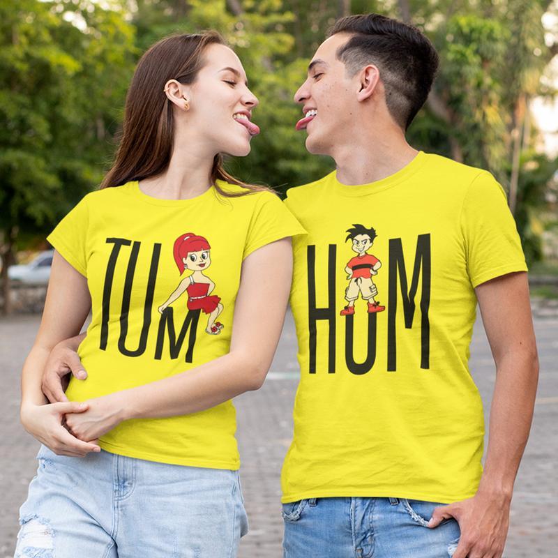 Couples Matching Design Printed T-Shirt
