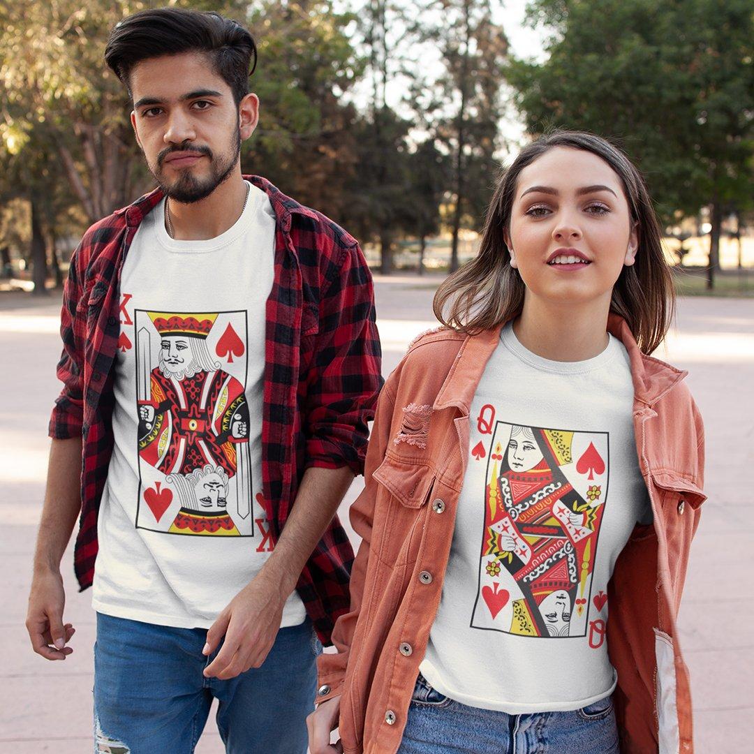 King & Queen Couples T-Shirt