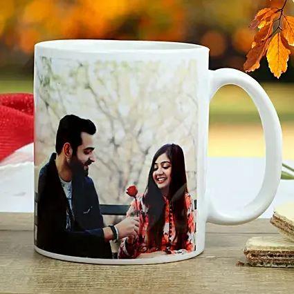 Personalized White Mug for Couple
